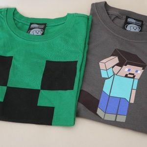 ThinkGeek Shirts & Tops - Minecraft Kid's T-Shirts Small - Brand New